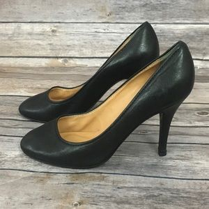 J.Crew Black Mona Leather Pump